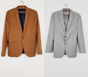 *BUNDLE* Designer Blazer Men Size 32R Brown/Grey